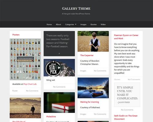 Free gallery wordpress templates webdesign : 2018