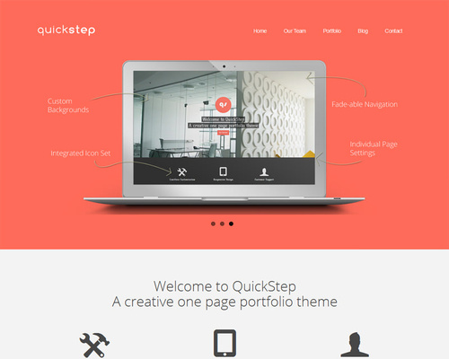 Responsive One-Page WordPress Theme