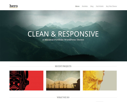 Minimalist WordPress Portfolio Theme