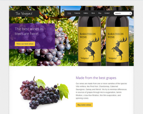 WordPress Wine Theme