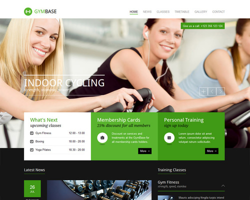 Fitness & Gym WordPress Theme