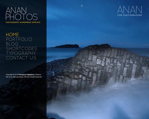 Fullscreen Photography Wordpress Theme
