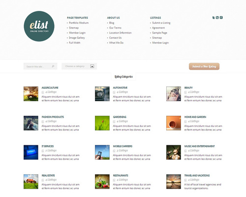 Elegant WordPress Directory Theme