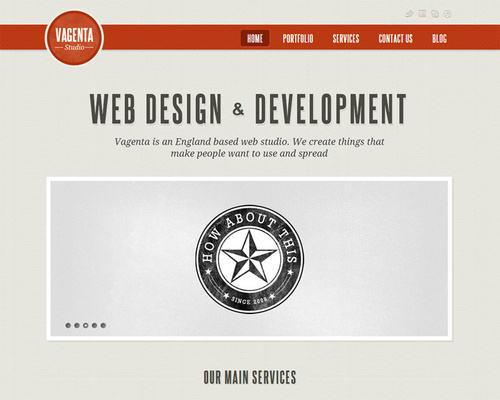 WordPress Vintage Theme