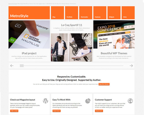 Wide WordPress Theme