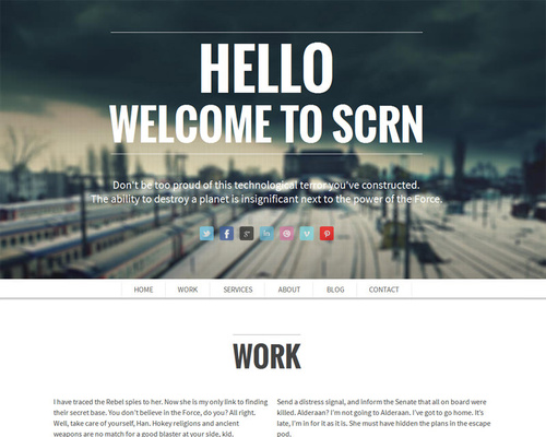 Single Page Portfolio WordPress Theme