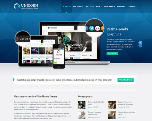 Retina Ready WordPress Theme