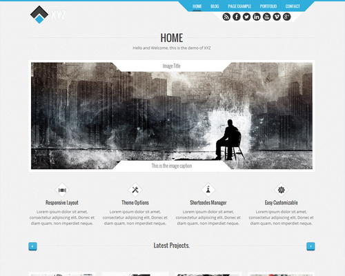 Futuristic WordPress Theme