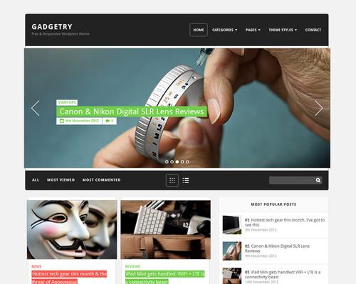 Gadgetry - Free Professional WordPress Theme | Themeshaker.com