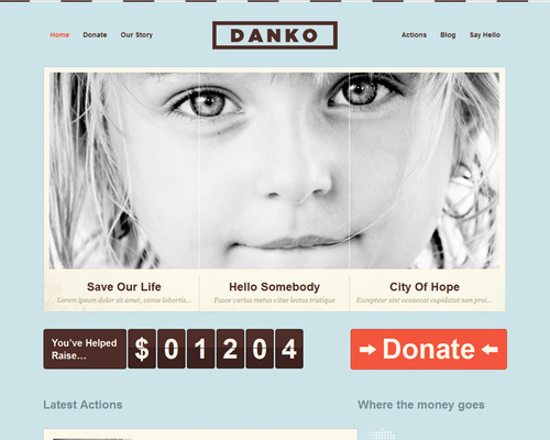 Free WordPress Charity Theme
