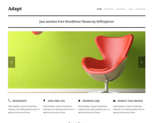 Free Minimalist WordPress Theme