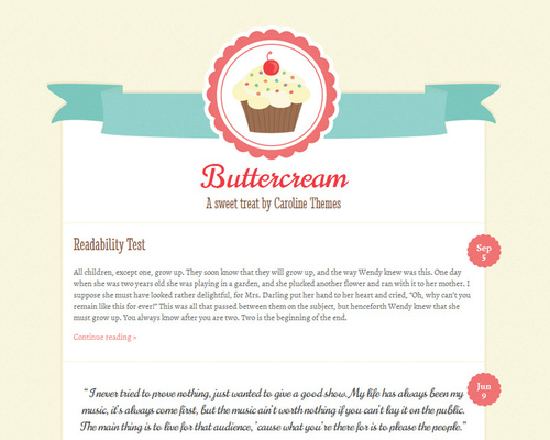 Free Tumblr Style WordPress Theme
