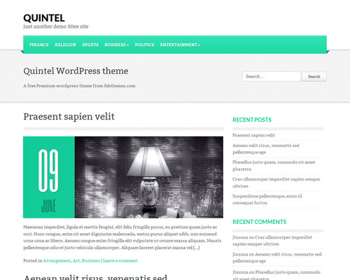 Free WordPress Blog Template