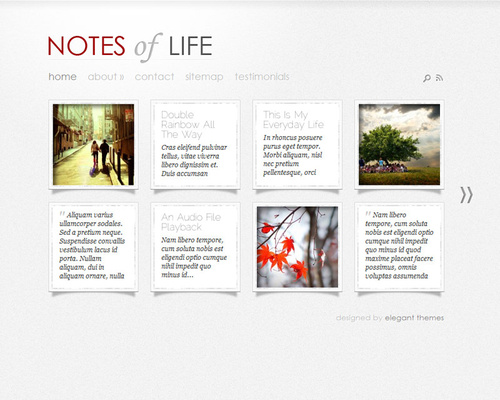 Microblogging WordPress Theme