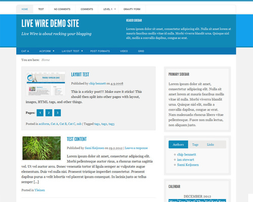 Free Responsive WordPress Blogging Theme