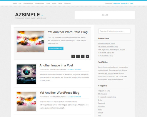 Plain and Simple WordPress Theme