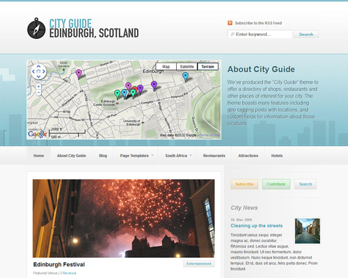 Wordpress City Guide Theme