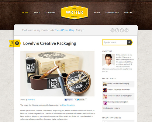 WordPress Personal Blog Theme