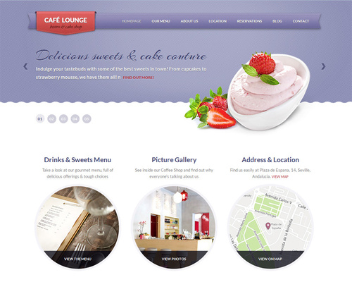 WordPress Cafe Theme