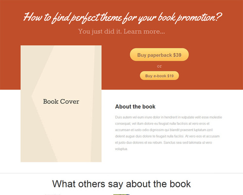 eBook WordPress Theme for Writers