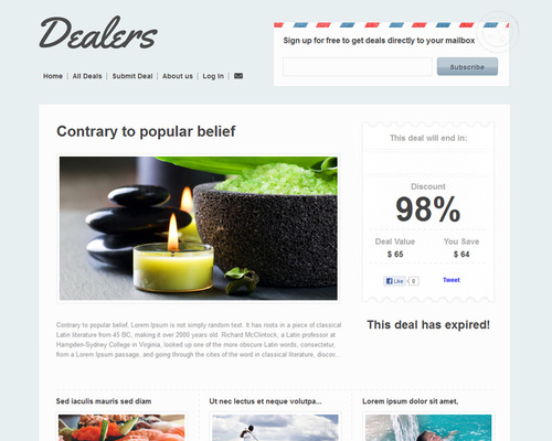 WordPress Coupon Dealer Theme