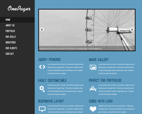 Free Single-Page WordPress Theme