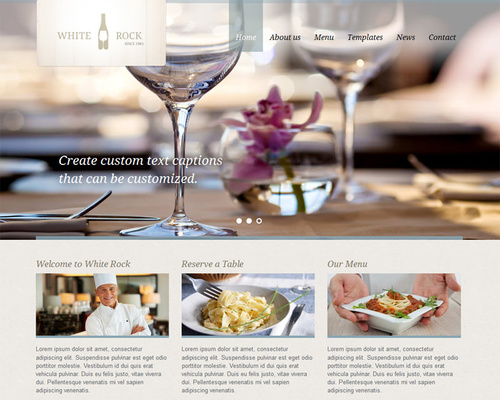 White Rock WordPress Restaurant Template Themeshakercom - Restaurant template wordpress