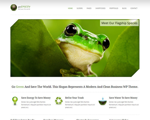 WordPress Green Theme