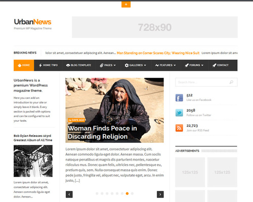 News Theme for WordPress