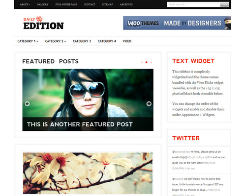 WordPress Premium Blog Theme