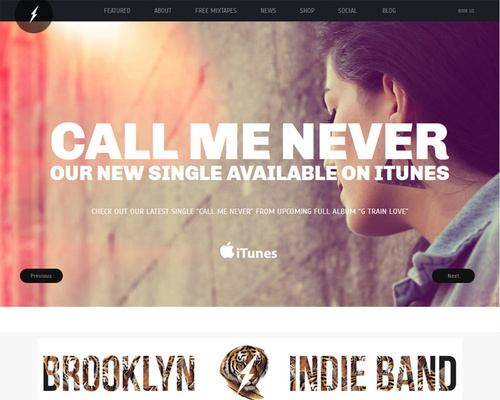 WordPress Band Template