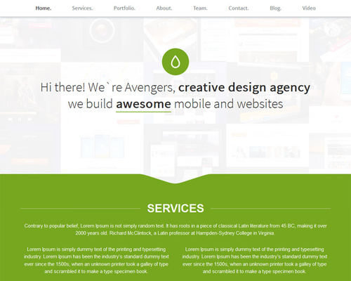 One-page Portfolio WordPress Theme