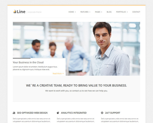 Corporate Business WordPress Theme