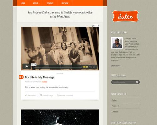 WordPress Microblogging Theme