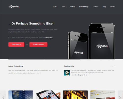 WordPress Theme for Product Showcase