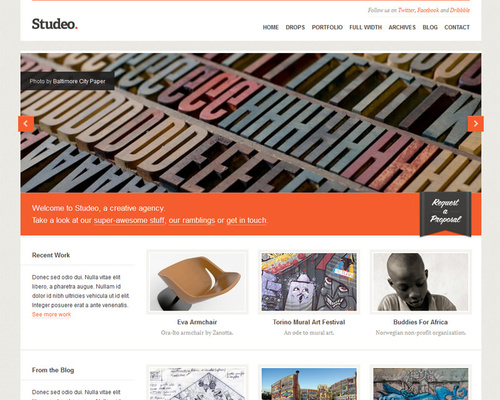 Creative Studio WordPress Theme