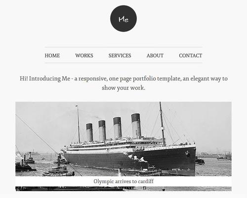 Simple One Page WordPress Theme