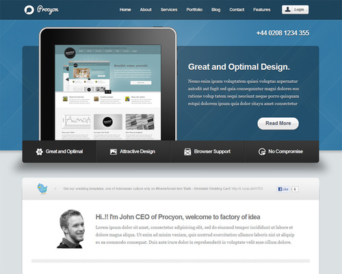 WordPress Corporate Template
