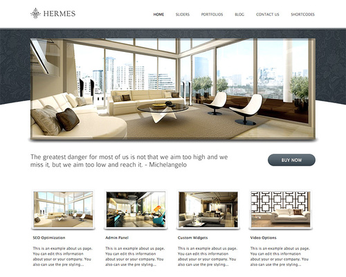 WordPress Theme for Hotels and Resorts