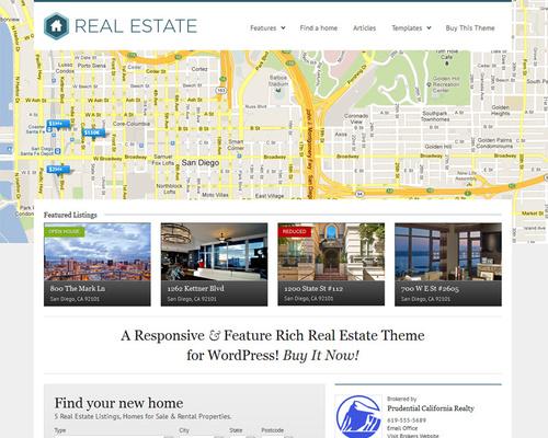 WordPress Real Estate Theme