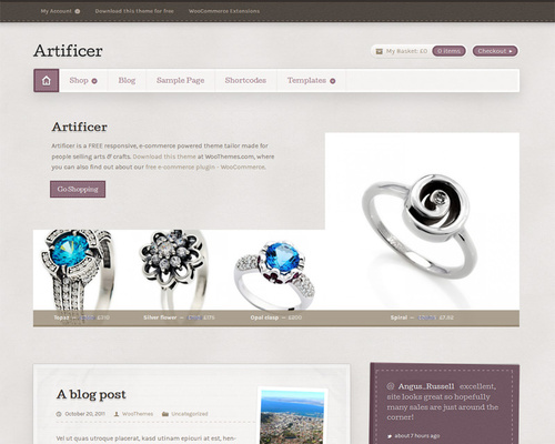 Free WordPress Shop Theme