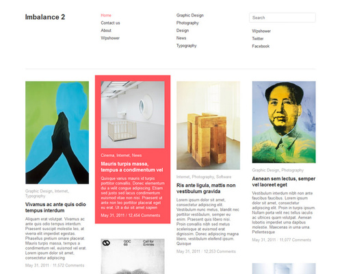 Modern Art Magazine WordPress Theme