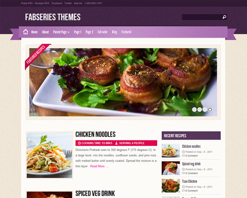 Free WordPress Food Blog Theme