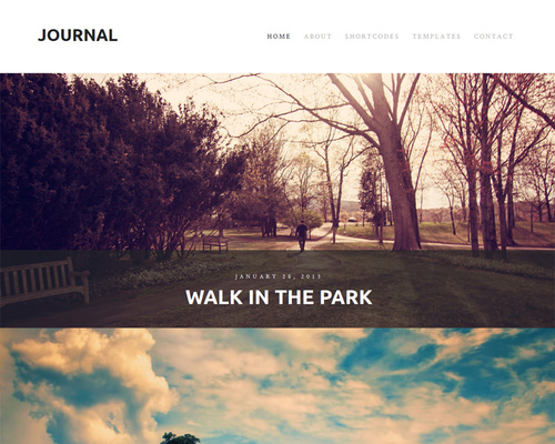 WordPress Photo Blog Theme