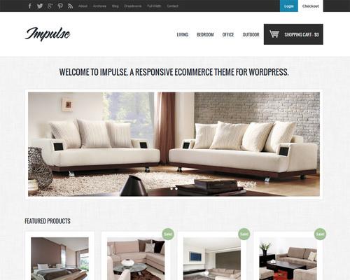 impulse furniture store wordpress theme. Black Bedroom Furniture Sets. Home Design Ideas