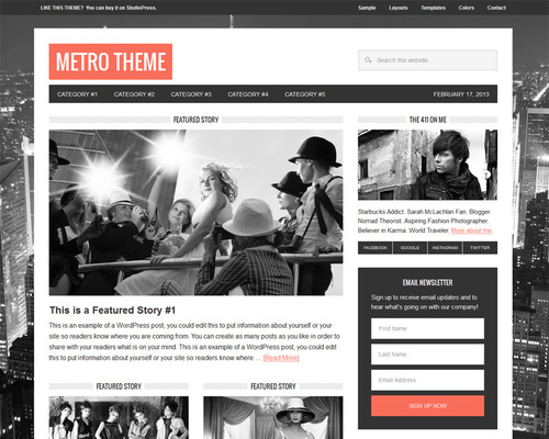 Modern Magazine WordPress Theme