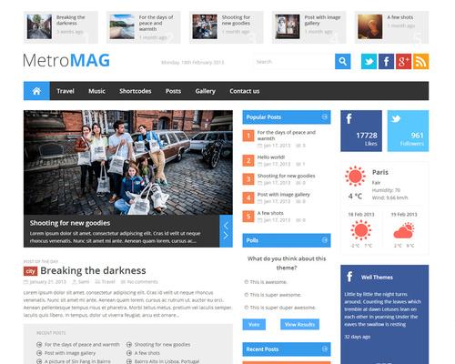 Metro Style WordPress Magazine Theme