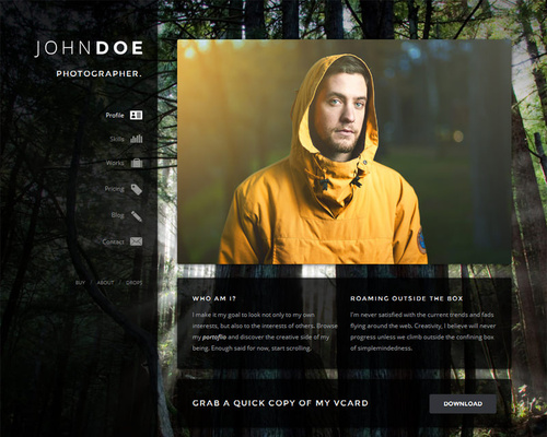 WordPress vCard Theme