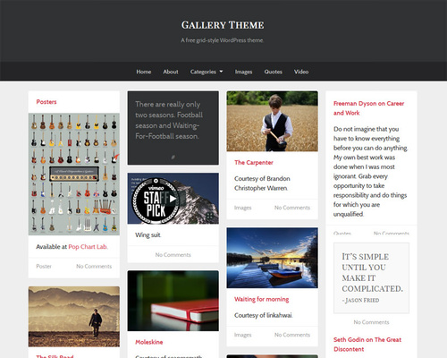 Free Responsive WordPress Gallery Theme