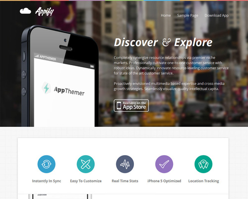 WordPress App Theme